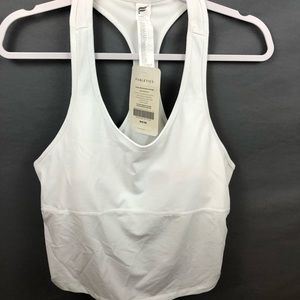 White Fabletics crop top